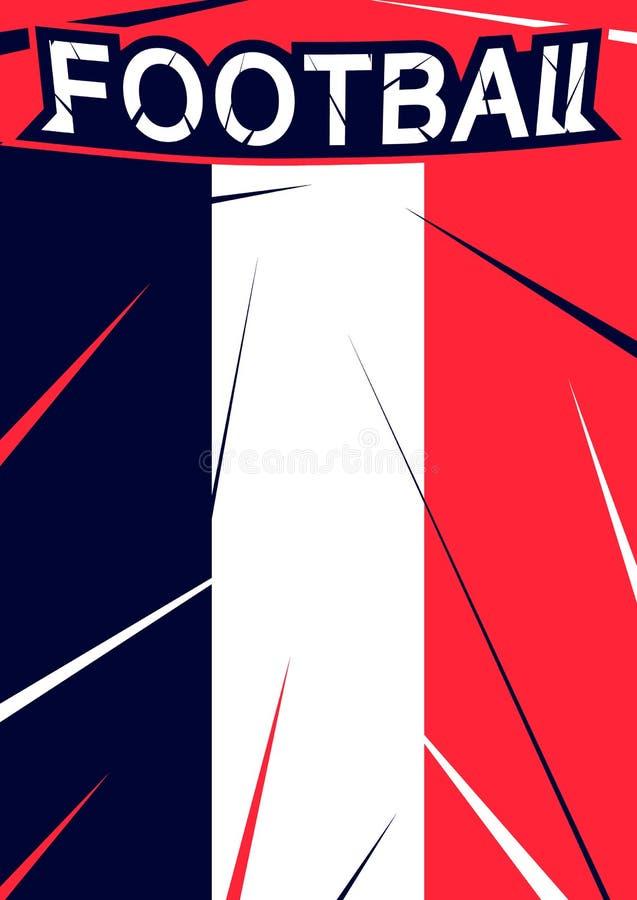 Nowożytnego projekta tło z futbolu znaka ikoną Piłka nożna sporta szablon dla mistrzostwo plakata, sztandar royalty ilustracja
