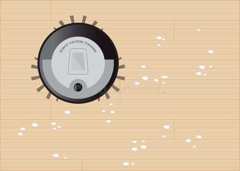 Nowożytnego robota próżniowy cleaner ilustracja wektor