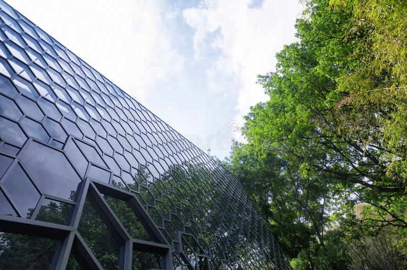 Nowożytnego szklanego budynku Shenzhen fasadowa porcelana zdjęcie stock