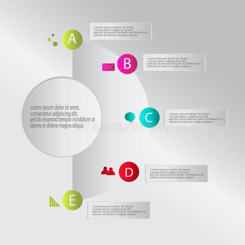 Nowożytnego wektorowego infographics infographic elementy ilustracja wektor