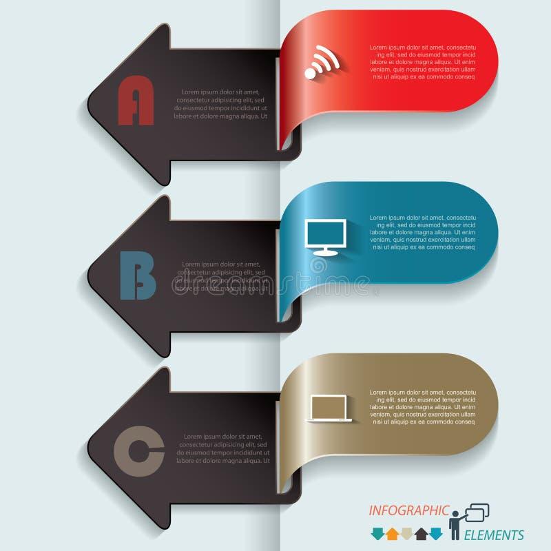 Nowożytnego wektorowego szablonu prezentaci infographics biznesowy projekt ilustracja wektor