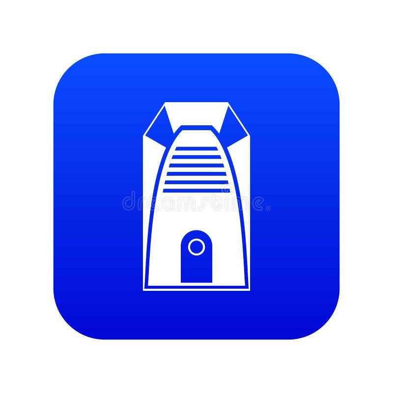 Nowożytnej elektrycznej domowej nagrzewacz ikony cyfrowy błękit royalty ilustracja