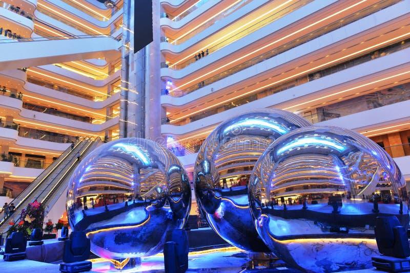 Nowożytnej oświetleniowej plac sala ï ¼ Œmodern wewnętrzny budynek biurowy, nowożytna biznesowa budynek sala, inside handlowy bud zdjęcia stock
