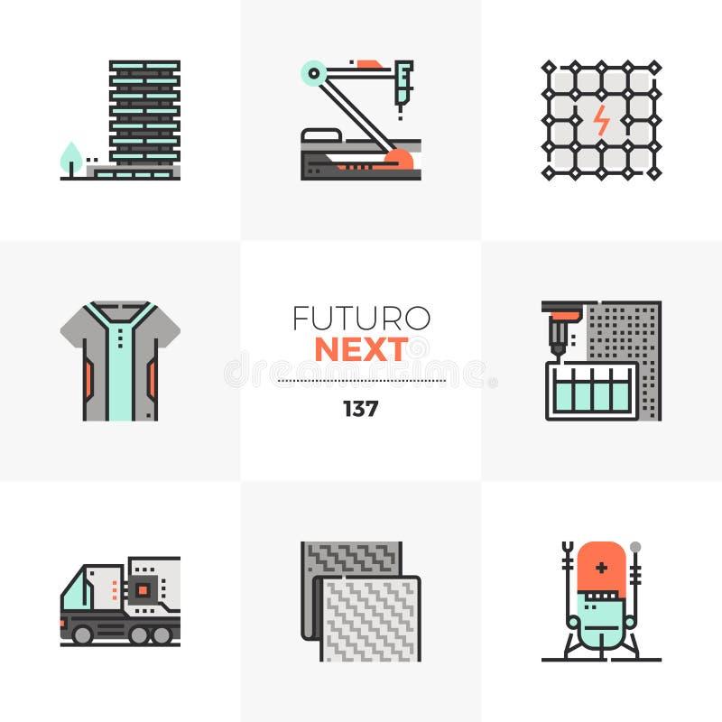 Nowożytnej technologii Futuro Następne ikony