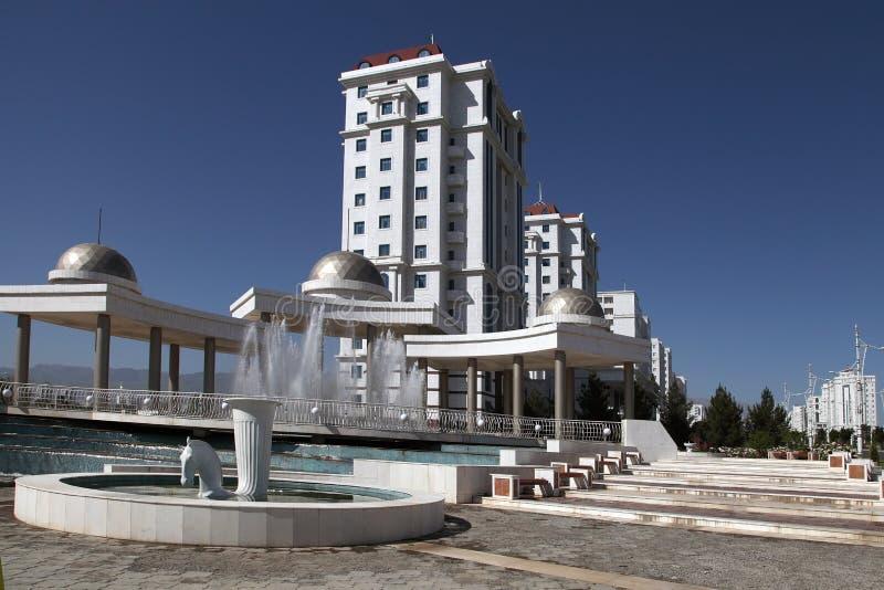 Nowożytni apartamentes w Ashkhabad, Turkmenistan. obraz stock