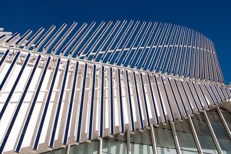 Nowożytni architektura panel słoneczny fotografia royalty free
