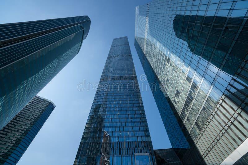 Nowożytni biznesowi drapacze chmur, wieżowowie, architektura r fotografia royalty free