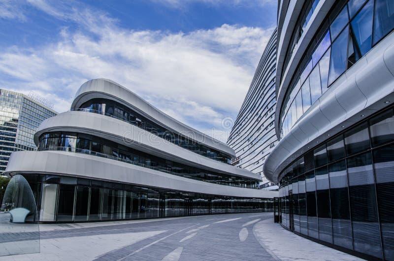 Nowożytni budynki, Pekin zdjęcie royalty free