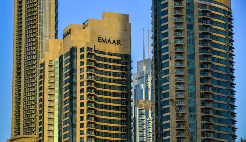 Nowożytni budynki w Dubaj, UAE obrazy stock