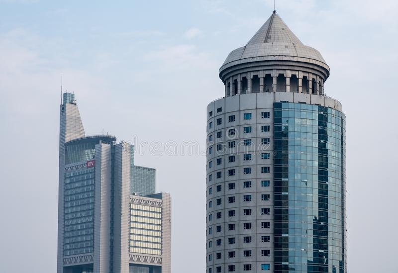 Nowożytni budynki w miasta dzielnica biznesu w Pekin obraz stock