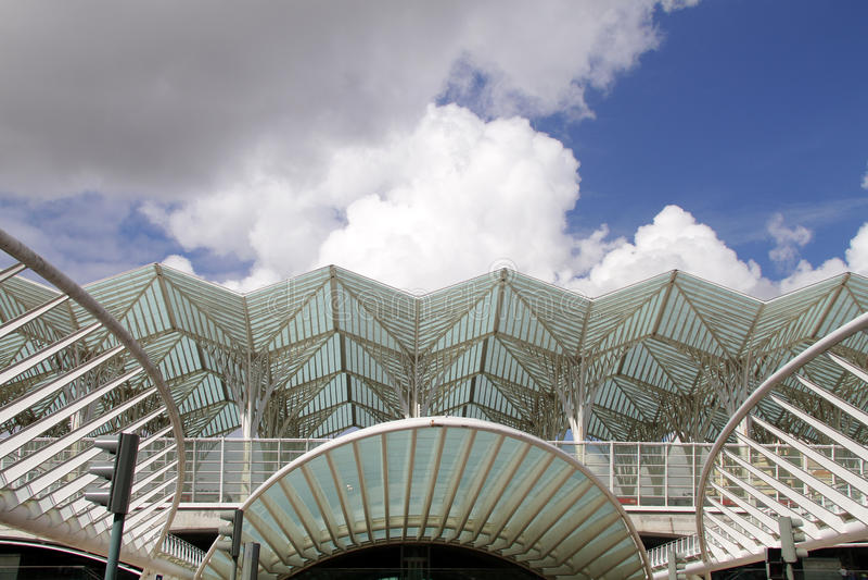 Nowożytni budynki w parku narody, Lisbon fotografia royalty free
