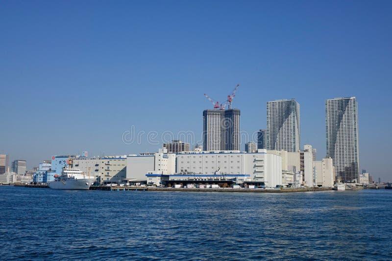 Nowożytni budynki w Tokio zatoce, Japonia fotografia stock