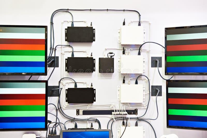 Nowożytni dekodery dla odbiorczych audio wideo sygnałów zdjęcia royalty free