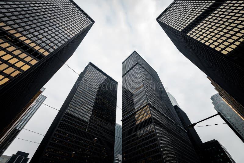 Nowożytni drapacze chmur w w centrum Toronto, Kanada obrazy royalty free