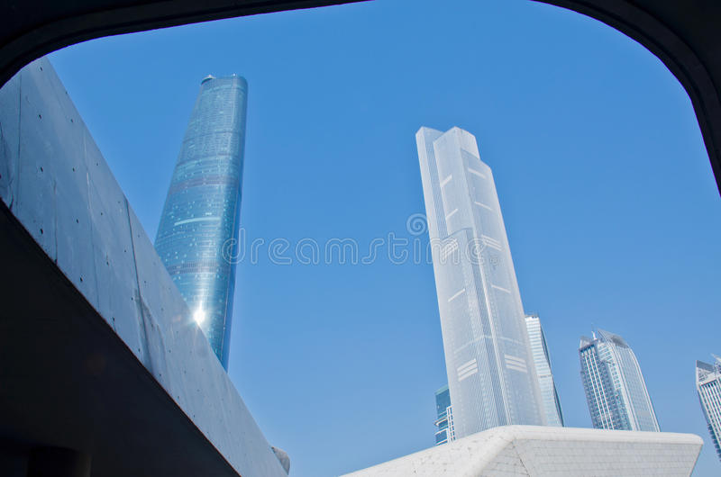 Nowożytni drapacze chmur w Guangzhou obrazy royalty free