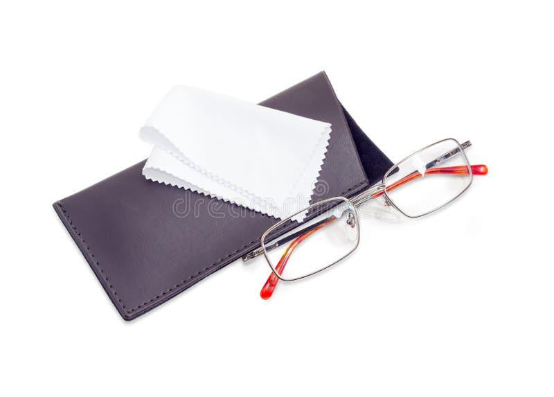 Nowożytni klasyczni mężczyzna ` s eyeglasses i miękka skrzynka zdjęcie royalty free