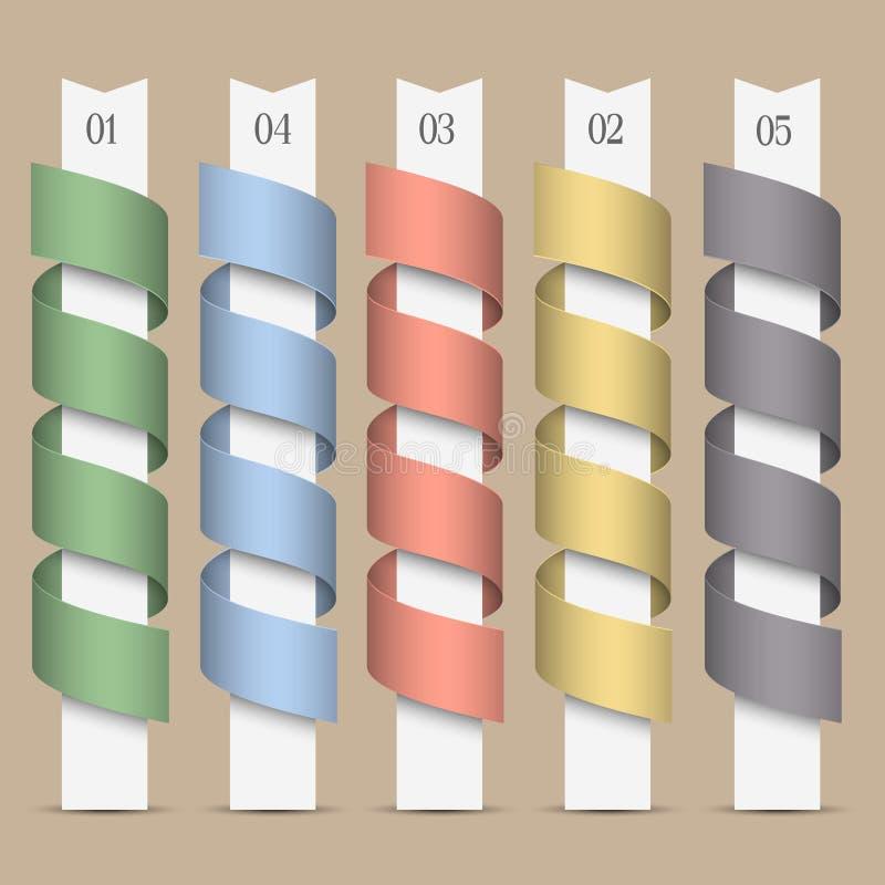 Nowożytni liczący barwioni sztandary ilustracji