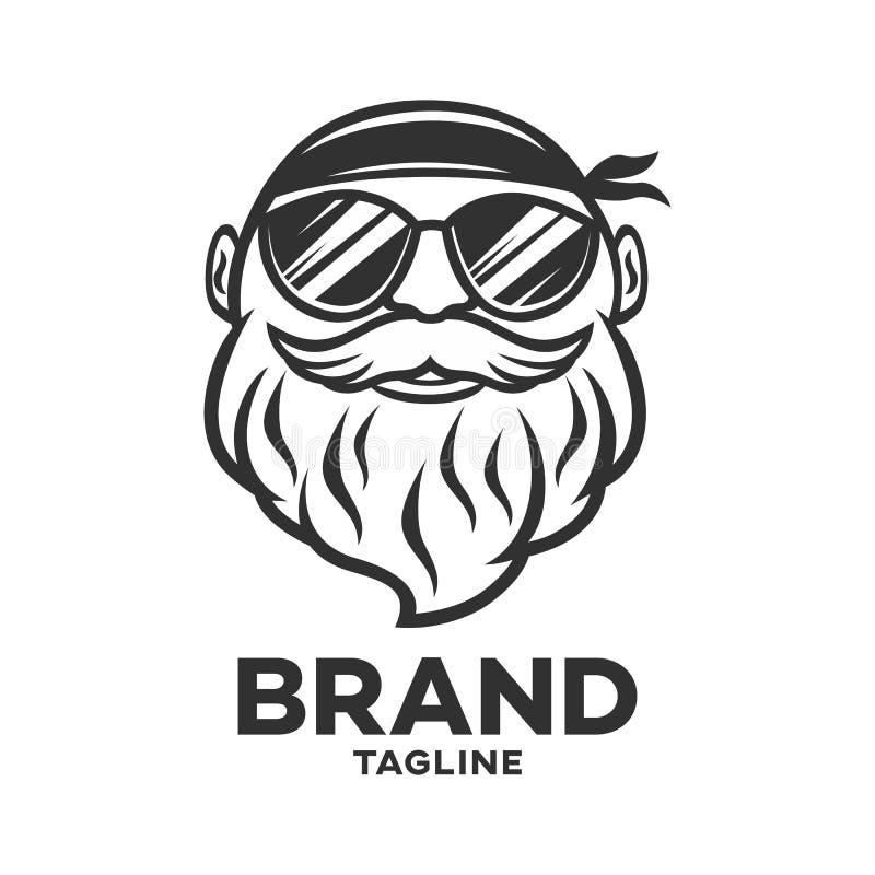 Nowożytni logo rowerzysty mężczyźni ilustracja wektor