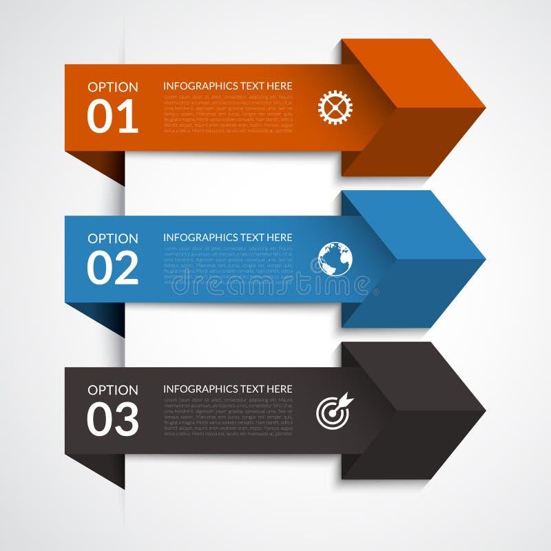 Nowożytni strzałkowaci infographic elementy ilustracja wektor