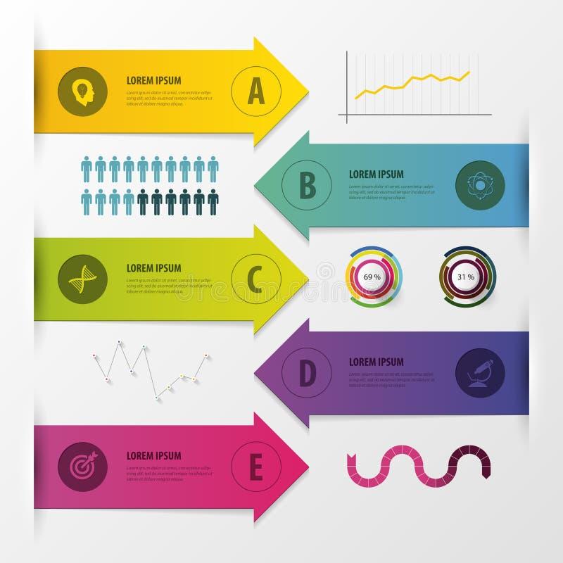 Nowożytni strzałkowaci infographics elementy również zwrócić corel ilustracji wektora ilustracja wektor