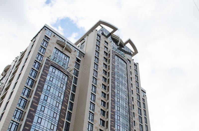 Nowożytni szklani budynków drapacze chmur zdjęcia royalty free