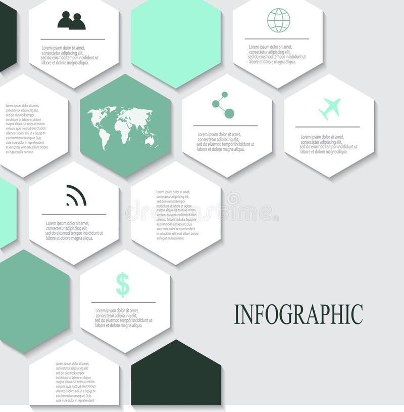 Nowożytni wektorowi abstrakcjonistyczni infographic elementy ilustracja wektor