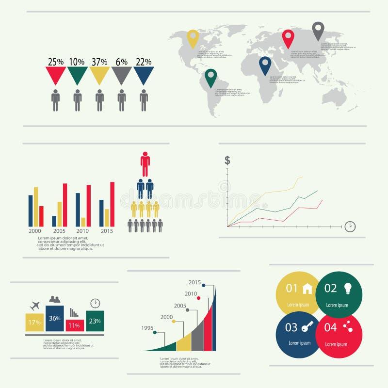 Nowożytni wektorowi abstrakcjonistyczni infographic elementy royalty ilustracja