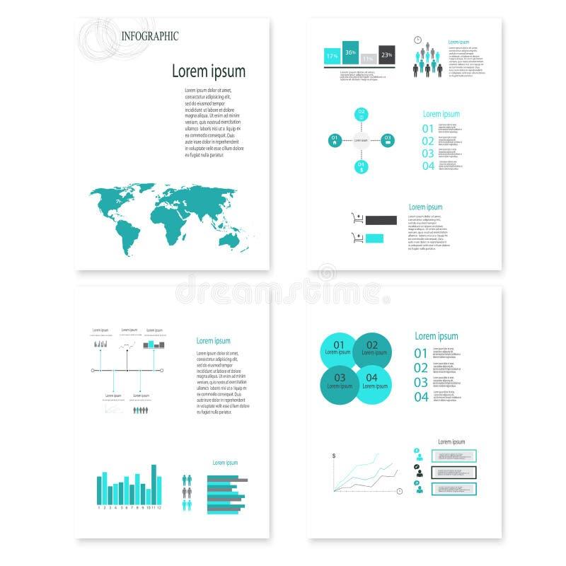 Nowożytni wektorowi abstrakcjonistyczni infographic elementy ilustracji