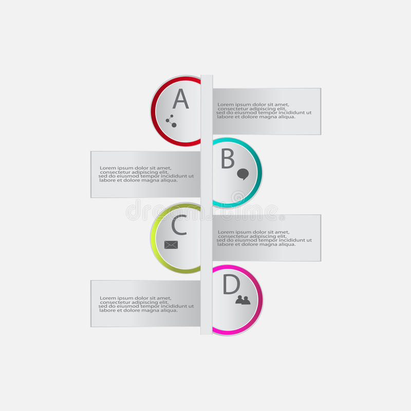 Nowożytni wektorowi abstrakcjonistyczni infographics elementy ilustracji