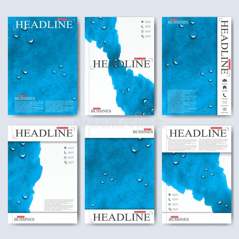 Nowożytni wektorowi szablony dla broszurki, ulotki, okładkowego magazynu lub raportu w A4 rozmiarze, Biznes, nauka, medycyna i royalty ilustracja