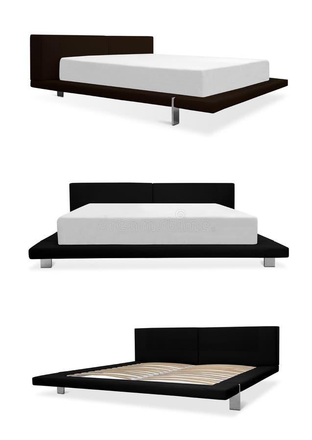 Nowożytny łóżka i ramy meble fotografia stock