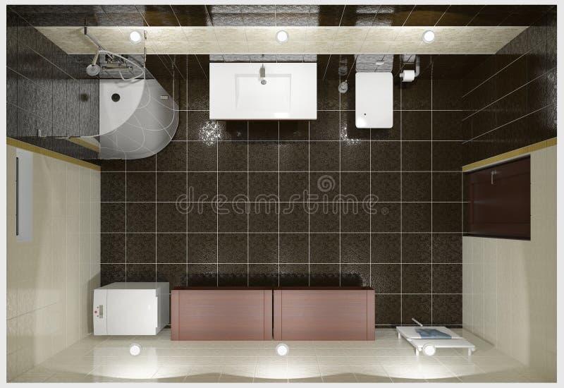 Download Nowożytny łazienki wnętrze ilustracji. Ilustracja złożonej z minimalista - 13332498