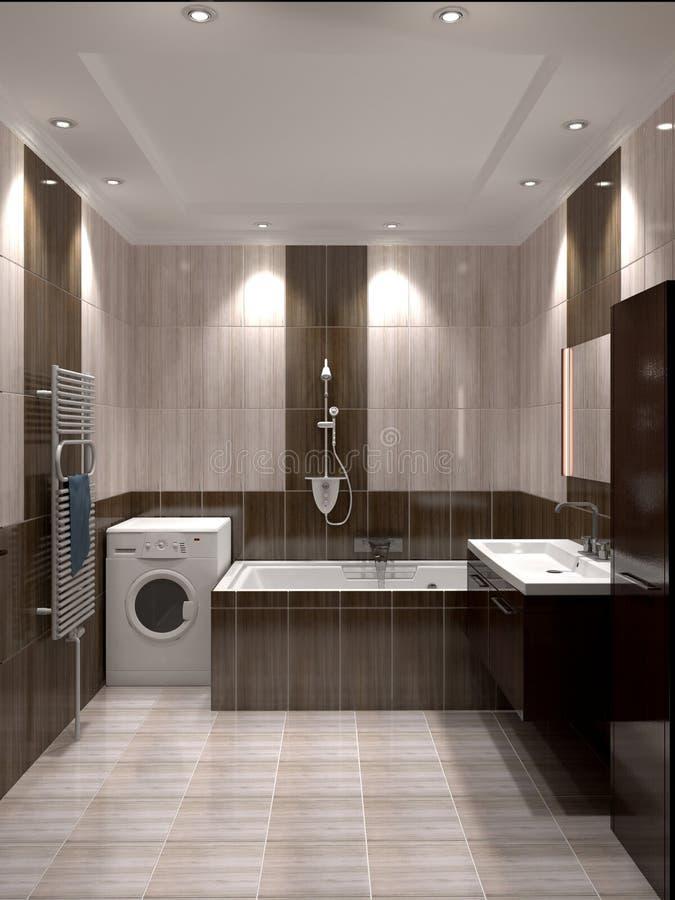 nowożytny łazienki wnętrze ilustracja wektor