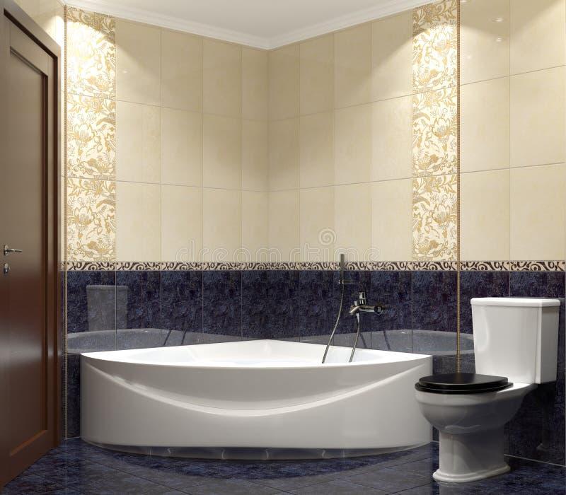 nowożytny łazienki wnętrze royalty ilustracja
