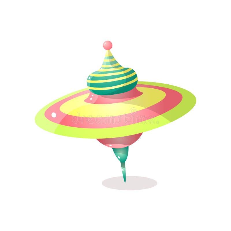 Nowożytny śliczny whirligig prezent dla małego ślicznego dzieciaka ilustracji