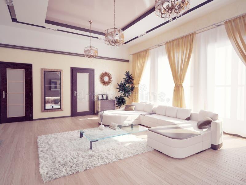 Nowożytny żywy pokój ilustracja wektor