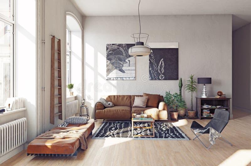 Nowożytny żywy pokój ja ilustracja wektor