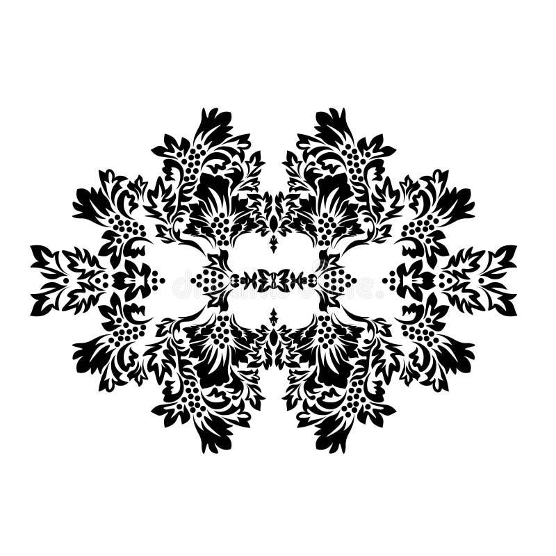 Nowożytny abstrakcjonistyczny ślubny szablon z adamaszek kartą royalty ilustracja