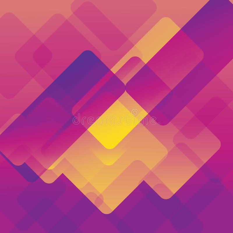 Nowożytny abstrakcjonistyczny kolorowy geometryczny tło Kształty z modnym gradientu składem dla twój projekta ilustracja wektor