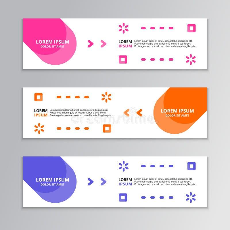 Nowożytny Abstrakcjonistyczny kształt, Biznesowy sztandaru szablon, Korporacyjny projekt ilustracja wektor
