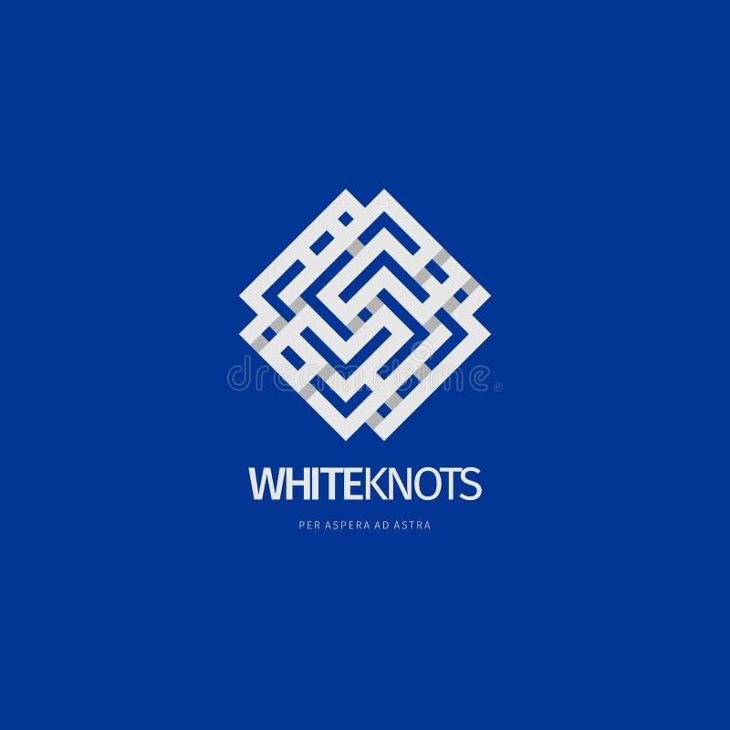 Nowożytny abstrakcjonistyczny loga lub elementu projekt Best dla tożsamości i logotypów ilustracja wektor