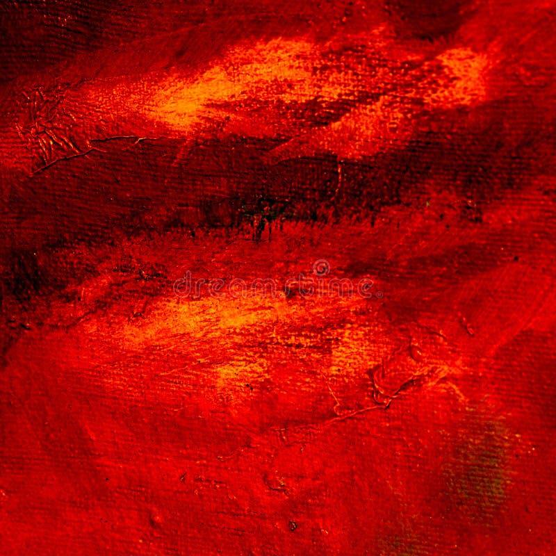 Nowożytny abstrakcjonistyczny obraz olejny dla wnętrza na szorstkiej kanwie, illus royalty ilustracja
