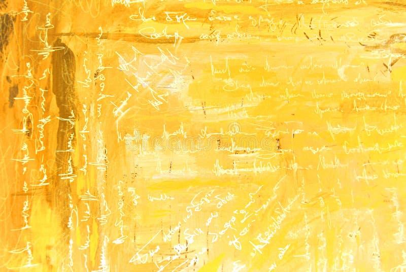 Nowożytny abstrakcjonistyczny obrazu wnętrze z symulującym tekstem, wzór, zdjęcie stock