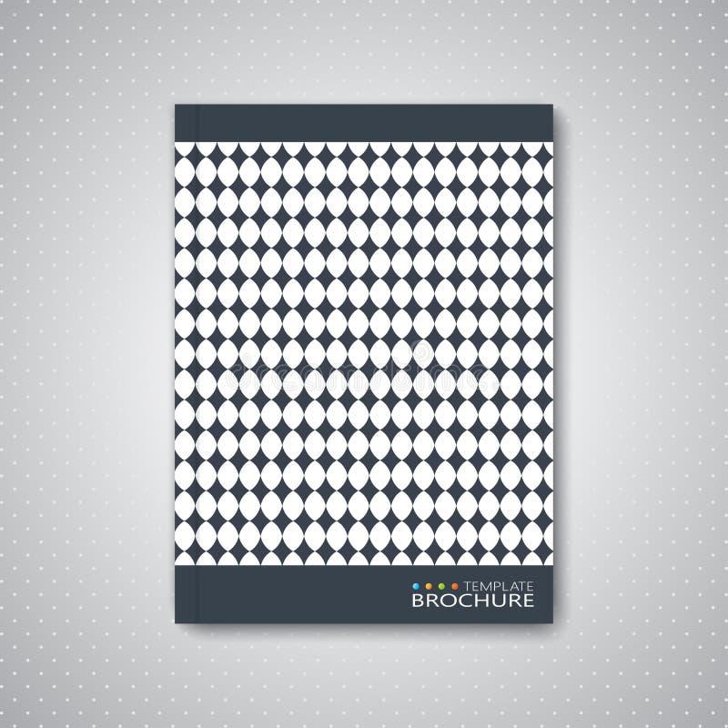 Nowożytny abstrakcjonistyczny szablonu układ dla broszurki ilustracja wektor