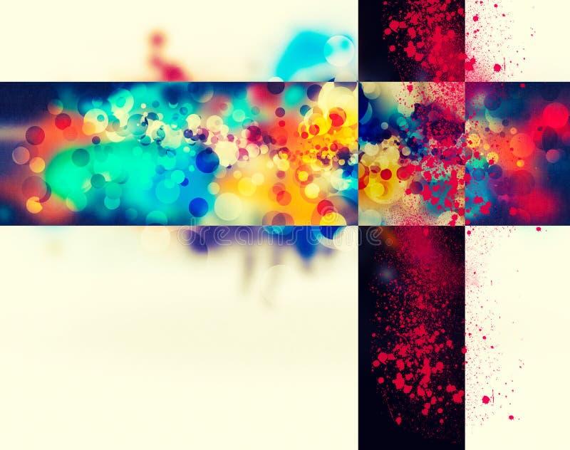 Nowożytny abstrakcjonistyczny tło z przestrzenią dla twój royalty ilustracja