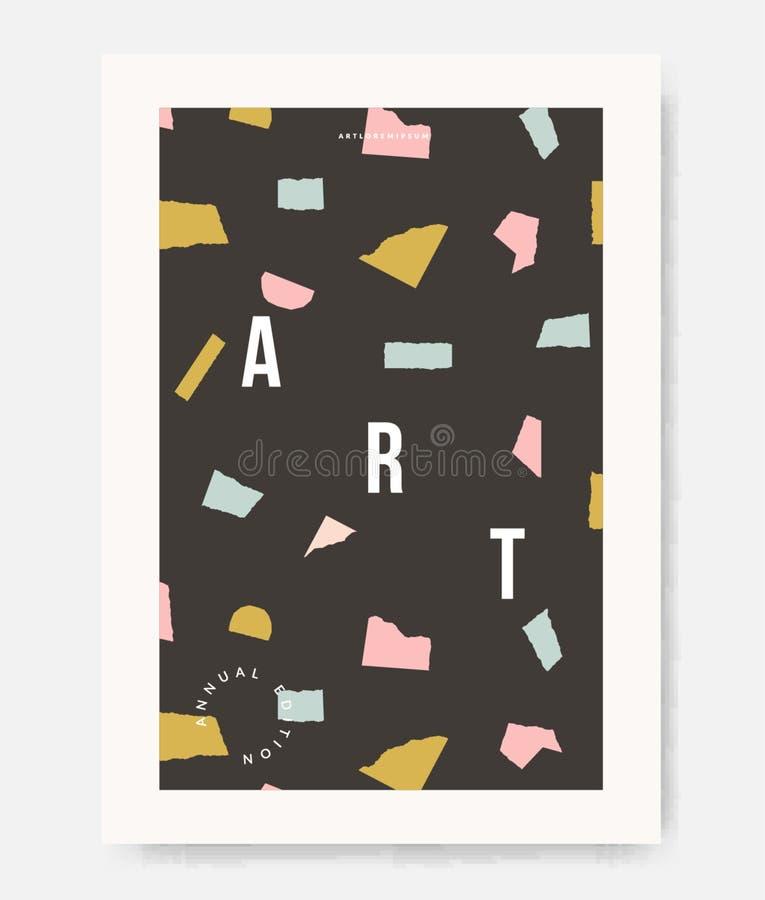 Nowożytny abstrakta papieru cięcia kształtów projekta plakat zdjęcie royalty free
