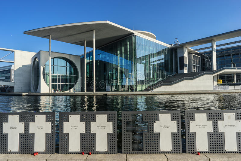 Nowożytny administracja budynek, Berlin zdjęcia stock