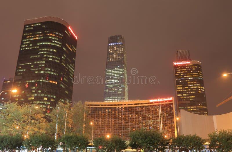 Nowożytny architektury Pekin pejzaż miejski Chiny obraz royalty free