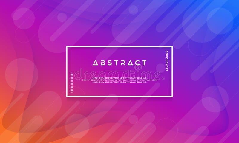 Nowożytny błękit, purpura, pomarańczowy abstrakcjonistyczny tło jest stosowny dla sieci, chodnikowiec, sieć sztandar, ląduje stro royalty ilustracja