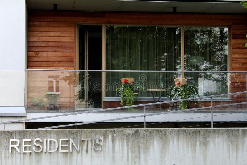 Nowożytny balkon zdjęcia royalty free